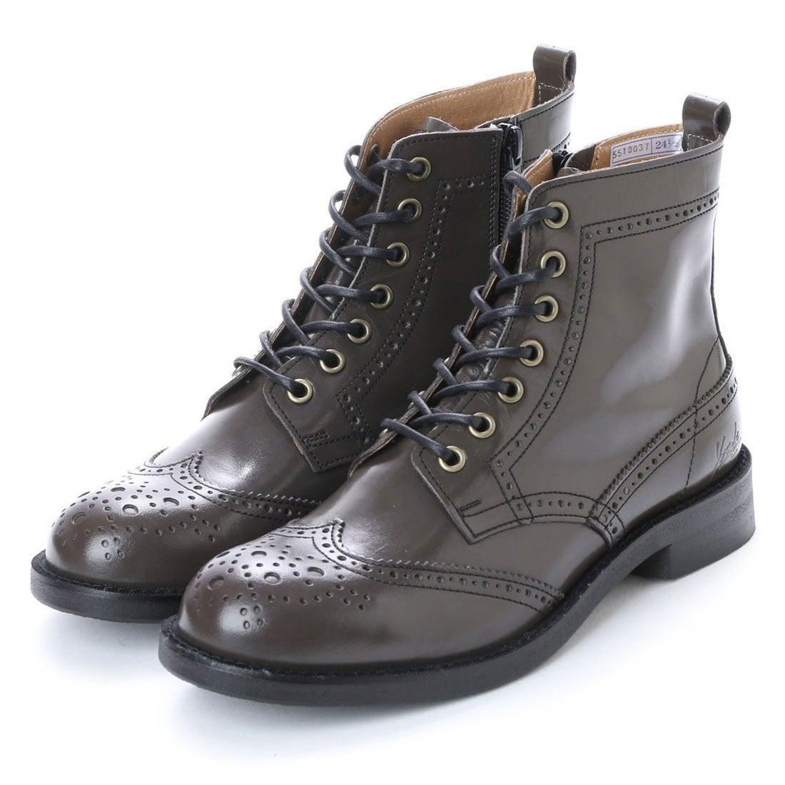 b06ef6b1689a ヨースケ YOSUKE 本革レースアップブーツ (グレー) -靴&ファッション通販 ロコンド〜自宅で試着、気軽に返品