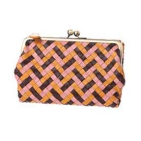 カナナラ KUNUNURRA オイルポニーカラフルメッシュがま口折財布 (キャメル)