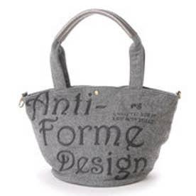 アンチフォルムデザイン Anti-Forme Design LOGO BAG バケツ型トート(ウール) (グレー)