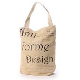 アンチフォルムデザイン Anti-Forme Design LOGO BAG バゲットトート(リネン) (ベージュ)