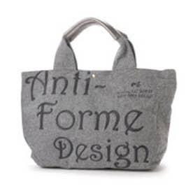 アンチフォルムデザイン Anti-Forme Design LOGO BAG ビッグトート(ウール) (グレー)