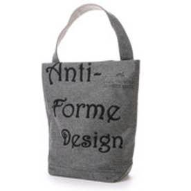 アンチフォルムデザイン Anti-Forme Design LOGO BAG バゲットトート(ウール) (ブラック)