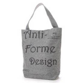 アンチフォルムデザイン Anti-Forme Design LOGO BAG バゲットトート(ウール) (グレー)