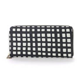アンチフォルムデザイン Anti-Forme Design 【Afd】CHECK(革友禅) ラウンド型財布 (ブラック)