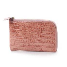 アンチフォルムデザイン Anti-Forme Design 【Afd】CROCODILE ミニL字型財布 (ピンク)