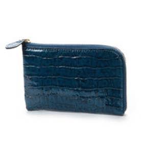 アンチフォルムデザイン Anti-Forme Design 【Afd】CROCODILE ミニL字型財布 (ブルー)