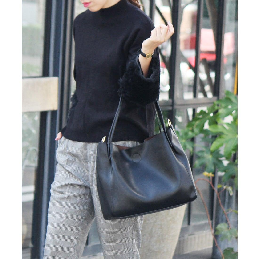 7db8228fecb3 ヴィータフェリーチェ VitaFelice 花柄インナーバッグ付き2wayトートバッグ (ブラック) -靴&ファッション通販  ロコンド〜自宅で試着、気軽に返品