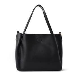 ヴィータフェリーチェ VitaFelice 花柄インナーバッグ付き2wayトートバッグ (ブラック)