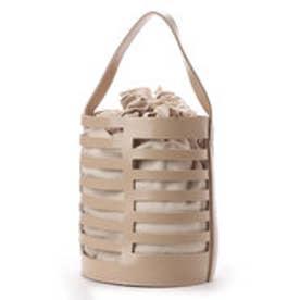 ヴィータフェリーチェ VitaFelice 巾着バッグ付き2wayバケツバッグ (ベージュ)