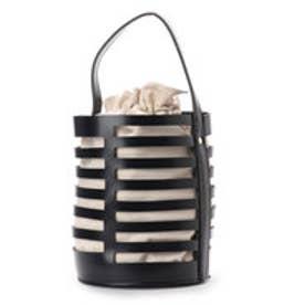 ヴィータフェリーチェ VitaFelice 巾着バッグ付き2wayバケツバッグ (ブラック)