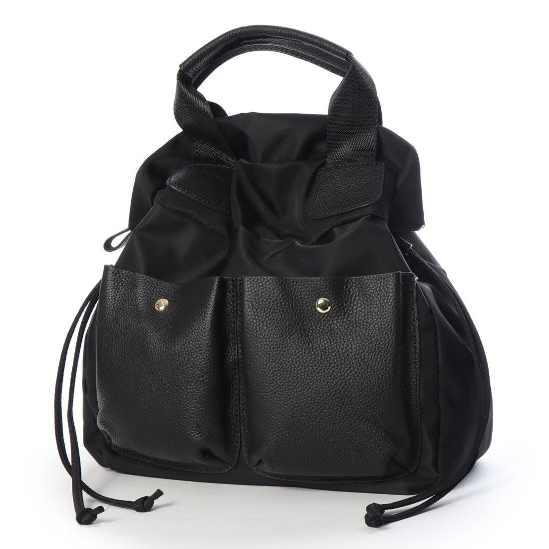 625a45aab30d ヴィータフェリーチェ VitaFelice 本革×ナイロン3wayリュック (ブラック) -靴&ファッション通販 ロコンド〜自宅で試着、気軽に返品