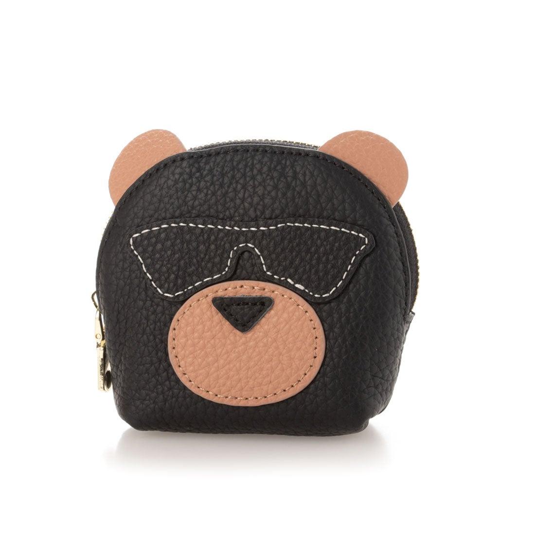 ヴィータフェリーチェ VitaFelice キーリング付き本革コインケース(Bear) (BLACK)