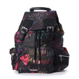 デシグアル Desigual ACCESSORIES FABRIC BACKPACK (Grey/Black)