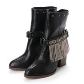 デシグアル Desigual SHOES  4 WOMAN PU BOOTS MID HALF (Grey/Black)