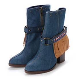 デシグアル Desigual SHOES  4 WOMAN DENIM BOOTS MID HALF (Blue/Navy)
