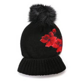 デシグアル Desigual HAT_RED FLOWERS (NEGRO)