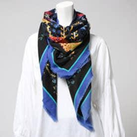 デシグアル Desigual  スカーフ (ブラックX柄)