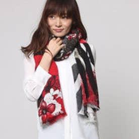 デシグアル Desigual スカーフ (ブラック レッド)