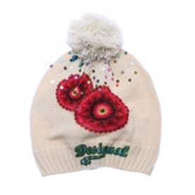 デシグアル Desigual  ニットキャップ 帽子(ホワイト)