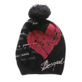 デシグアル Desigual ニットキャップ 帽子(ブラック)