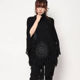 デシグアル Desigual KNITTED PONCHO_SOFT (BLACK)
