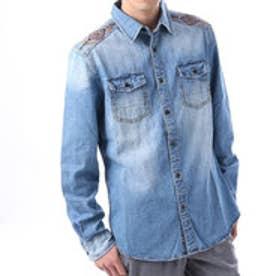 デシグアル Desigual  デニム シャツ トップス 刺繍(デニム ブルー)