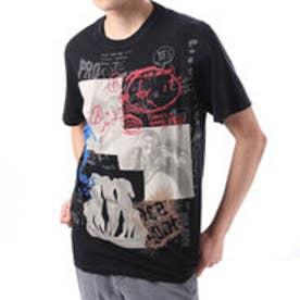 デシグアル Desigual  プリント Tシャツ トップス (ブラック)