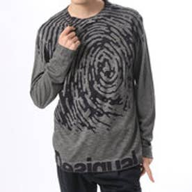 デシグアル Desigual Tシャツ 長袖 トップス(グレー)