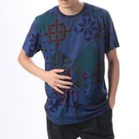デシグアル Desigual  プリント Tシャツ トップス (ブルー)