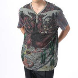 デシグアル Desigual Tシャツ トップス (グレー)