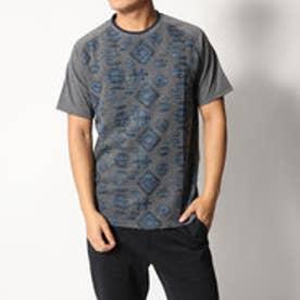 デシグアル Desigual ジャガード織半袖Tシャツ (BLUE)