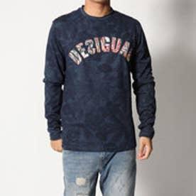 デシグアル Desigual ロゴ入り長袖Tシャツ (BLUE)