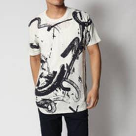 デシグアル Desigual 筆調デザイン半袖Tシャツ (WHITE)