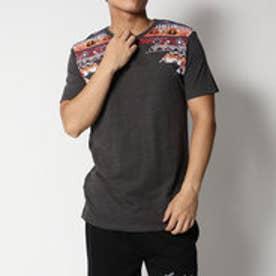 デシグアル Desigual トライバルプリントシンプルTシャツ (BLACK)