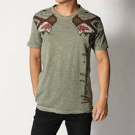 デシグアル Desigual エスニック柄ポイントプリントTシャツ (BROWN)
