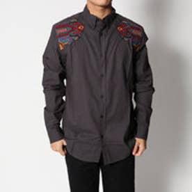 デシグアル Desigual 刺繍入りシンプルシャツ (BLACK)
