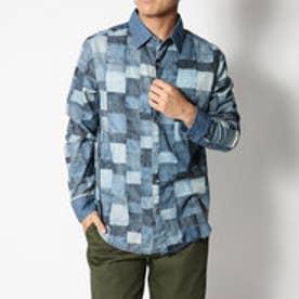 デシグアル Desigual デニムプリントシャツ (BLUE)