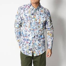 デシグアル Desigual ちぎり絵風デザインシャツ (WHITE)