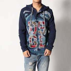 デシグアル Desigual フード付長袖Tシャツ (BLUE)