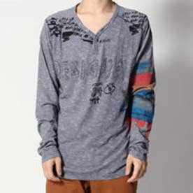 デシグアル Desigual Vネック長袖Tシャツ (BLACK)