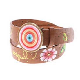 デシグアル Desigual CINT_CHAPON BORDADO FLORES (MARRON)