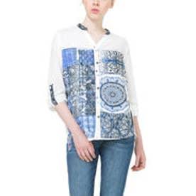 デシグアル Desigual シャツ トップス(ホワイト ブルー)