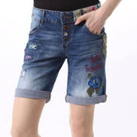 デシグアル Desigual  刺繍 デニム ショートパンツ(デニム ブルー)