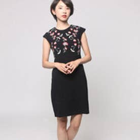 デシグアル Desigual 刺繍 ワンピース(ブラック)