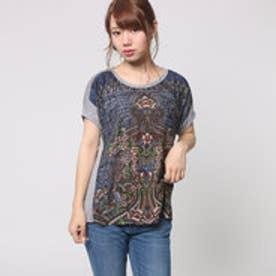 デシグアル Desigual Tシャツ トップス(グレー)