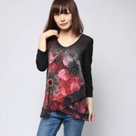 デシグアル Desigual Tシャツ トップス(ブラック)