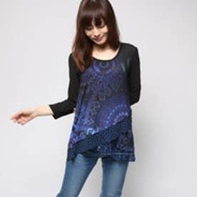 デシグアル Desigual Tシャツ トップス(ネイビー)