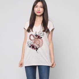 デシグアル Desigual Tシャツ トップス (ベージュ)