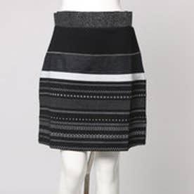 デシグアル Desigual スカート ニット(ブラックXホワイト)