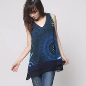 デシグアル Desigual TS_MC NUDO  REP (NAVY)